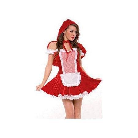 Red Riding Hood M6111 Coquette Red/White - Coquette Costumes