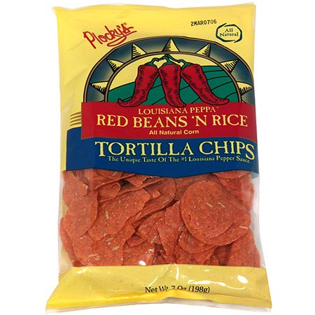 (Plocky's Louisiana Peppa Red Beans N Rice Tortilla Chips, 7 oz (Pack of 12))