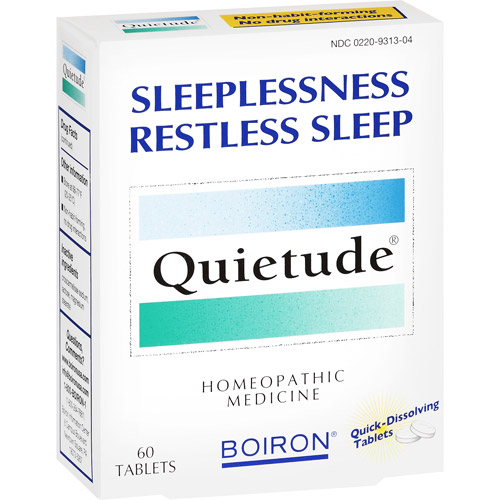 Boiron Quietude Homeopathic Quick Dissolving Tablets For Insomnia Remedy - 60 Ea
