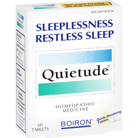 Boiron Quietude Homeopathic Quick Dissolving Tablets For Insomnia Remedy - 60
