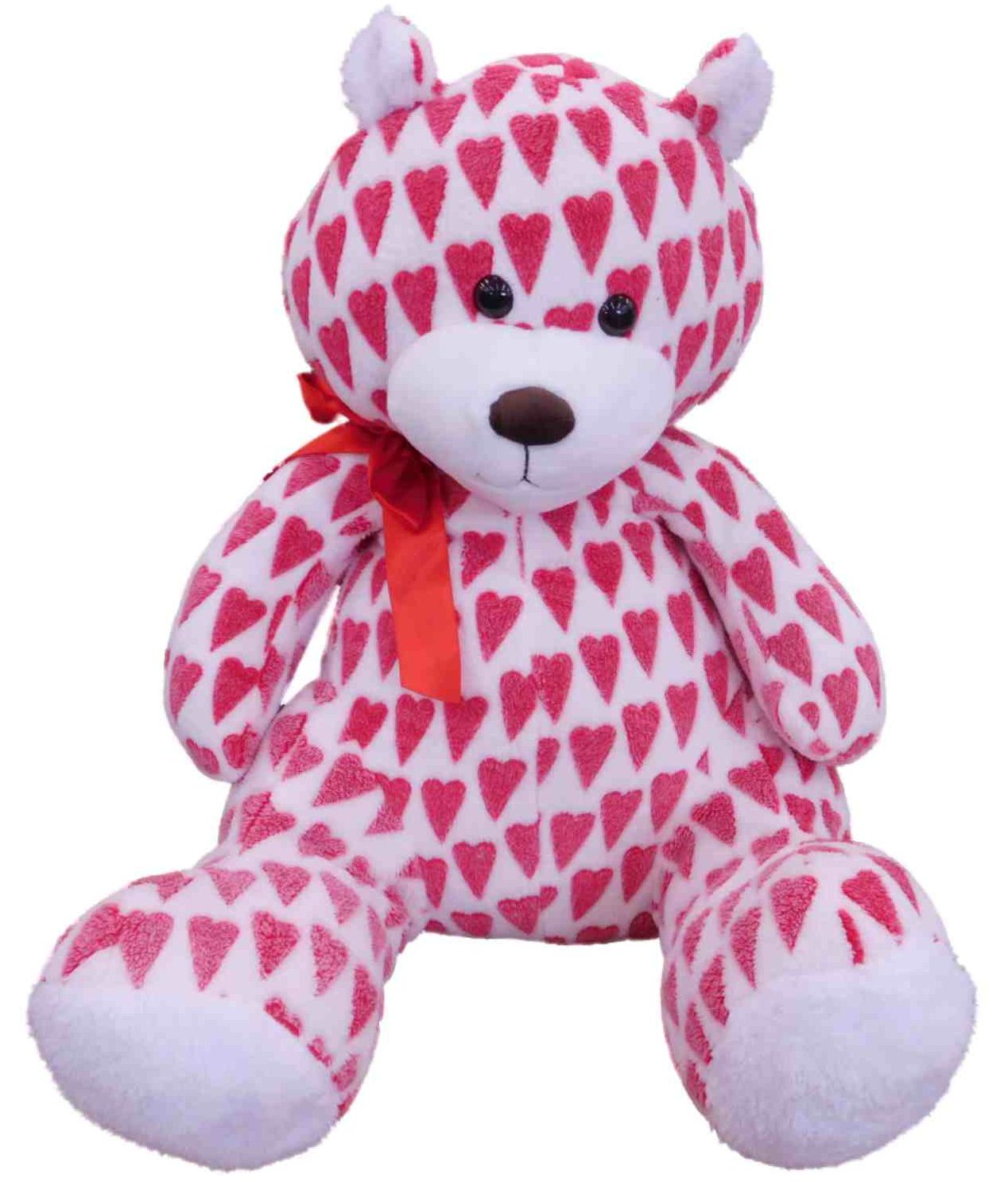 """Sweet Sprouts Red Hearts Love Teddy Bear Stuffed Animal 21"""" Plush Giant Pal by Sweet Sprouts"""