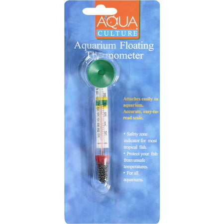 Aqua culture aquarium floating thermometer 1 ct for Betta fish temp