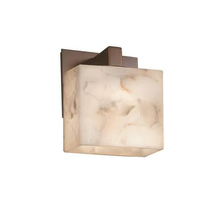 Justice Design  Group Alabaster Rocks Modular 1-light Dark Bronze ADA Wall Sconce, Rectangle Shade Alabaster Rocks 12 Light