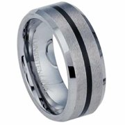 AAB Style RTS-23 Beautiful Brushed Tungston Carbide with Black PVD Ring