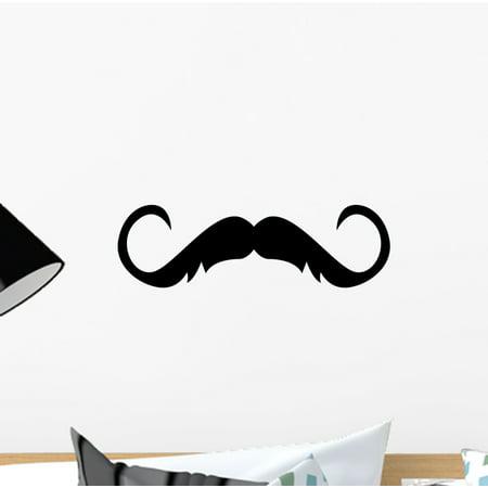 Artist With Mustache (Refined Artist Silly Mustache Wall Decal Sticker, Wallmonkeys Peel & Stick Vinyl Graphic (12 in W x 8 in)