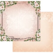 "Vintage Rose Garden Double-Sided Paper 12""X12""-Frame Of Roses"