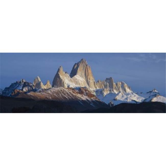 Panoramic Images PPI141012L Low angle view of mountains  Mt Fitzroy  Argentine Glaciers National Park  Argentina Poster Print by Panoramic Images - 36 x 12 - image 1 of 1