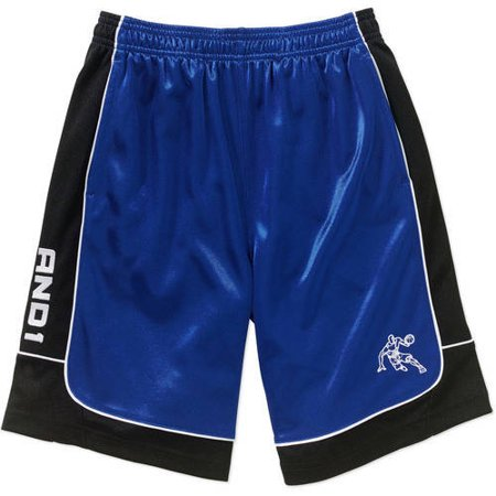 """AND1 Boys' 4-20 """"Color Block All Court"""" Game Short"""