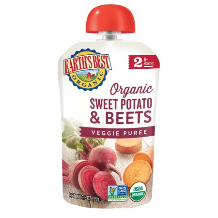 Earth's Best Organic Stage 2 Sweet Potato & Beets Baby Meals Pouch - 3.5oz