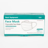 Basic Equipment 3-Ply Disposable Face Masks, 25 ct.