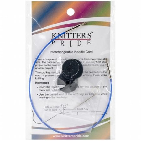 Knitters Pride KP800502 Interchangeable Cords 11 in. - Blue