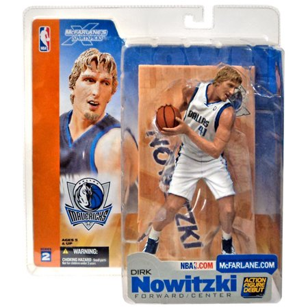 best service 76e51 397a8 Dirk Nowitzki Action Figure White Jersey Variant Sports Picks Series 2