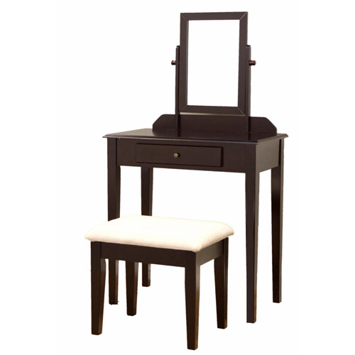 Home Craft 3-Piece Vanity Set, Espresso
