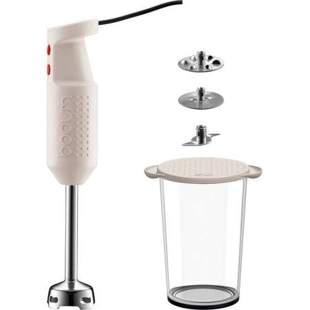 Bistro Electric Blender Stick with Accessories, White