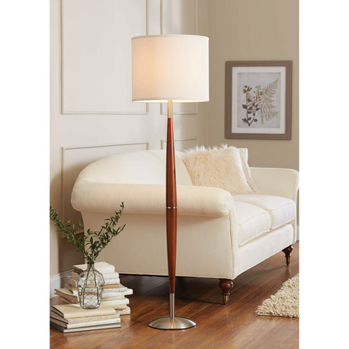 Better Homes and Gardens Chestnut Finish Contemporary Floor Lamp
