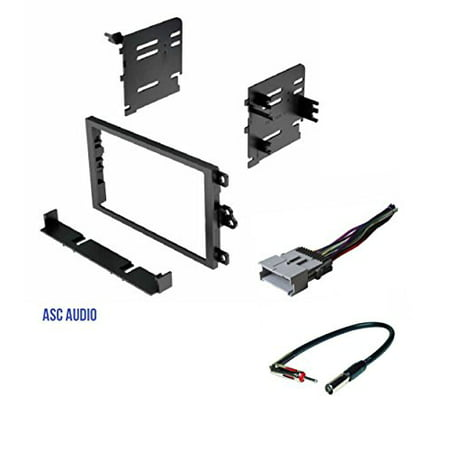 ASC Double Din Car Stereo Dash Kit, Wire Harness, Antenna Adapter to Install a Double Din Radio for 2003-2008 Pontiac Vibe, 2003-2004 Toyota Matrix (Toyota Sequoia Car Stereo)
