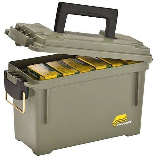 Plano 131200 Ammo Can, 6-8 Boxes, O-Ring, Water-Resistant, Polyethylene