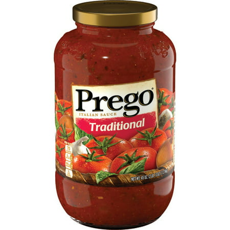 (3 Pack) Prego Pasta Sauce, Traditional, 45 oz. (Homemade Spaghetti Sauce With Fresh Tomatoes And Herbs)