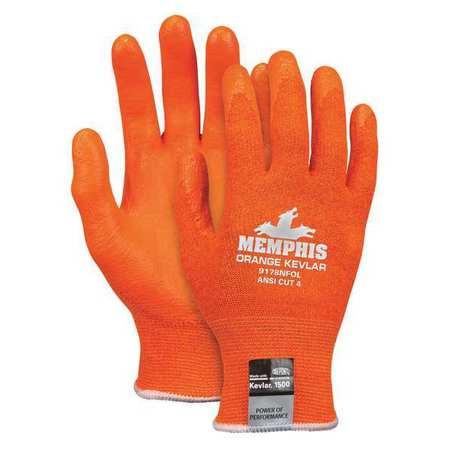 MCR SAFETY Cut Resistant Gloves,A4,M,Orange,PR 9178NFOM