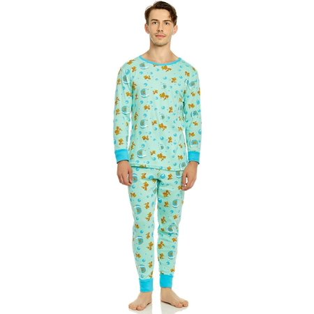 - Leveret Organic Cotton Fish Tank Men 2 Piece Pajama Set X Small