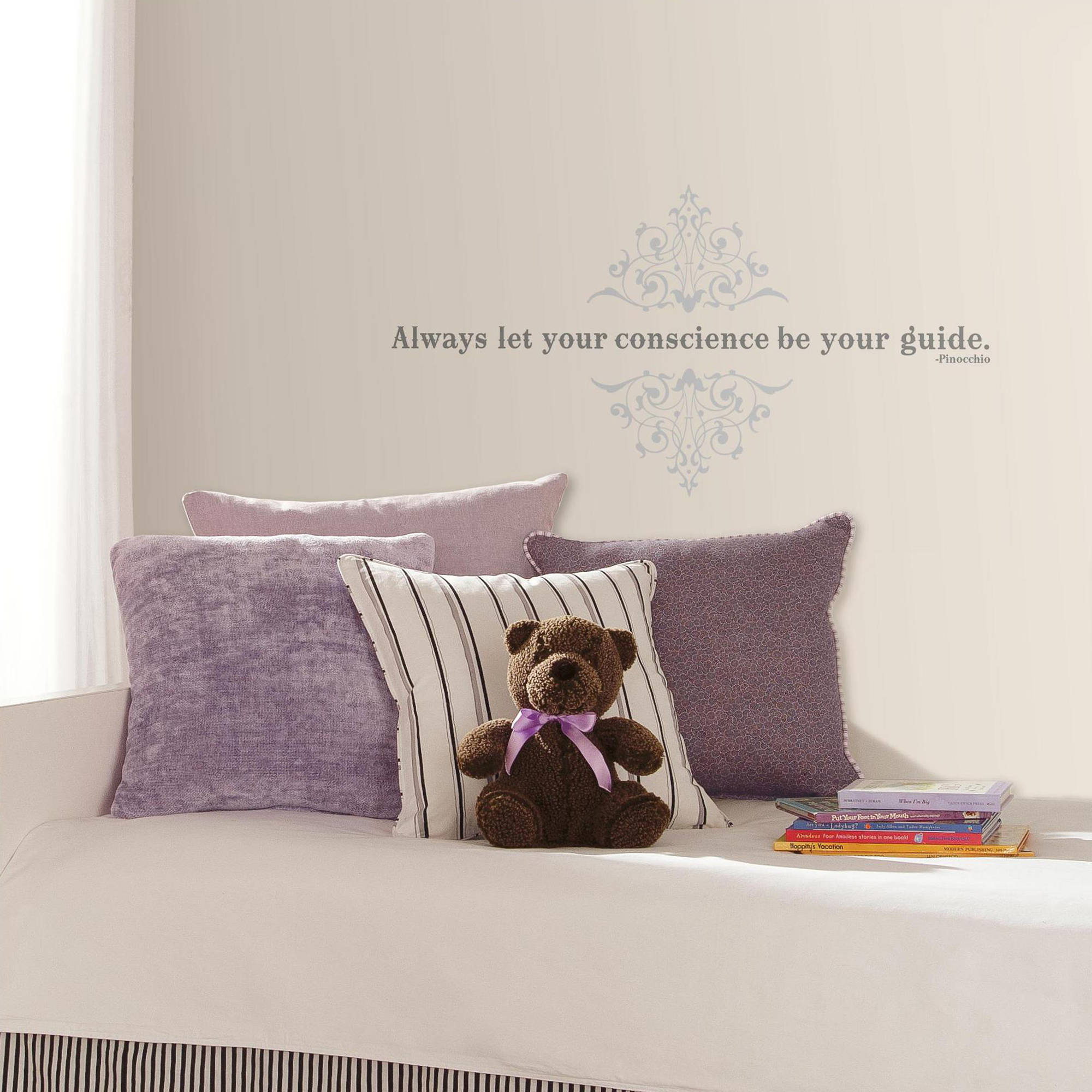 "Pinocchio ""Always Let Your Conscience Be Your Guide"" Peel and Stick Wall Decals"