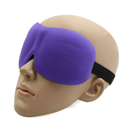 Sleeping Mask Eye Cover (Travel 3D Eye Sleep Mask Padded Shade Cover Rest Relax Sleeping Blindfold Purple)