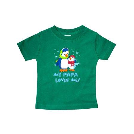 My Papa Loves Me! Cute Penguin Baby T-Shirt