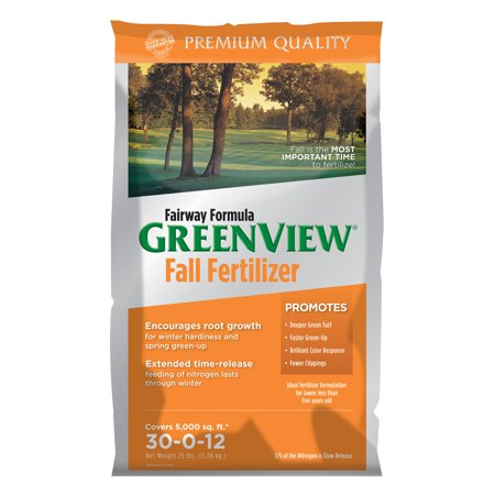 GreenView Fairway Formula Fall Fertilizer, 25 lb bag covers 5,000 sq ft