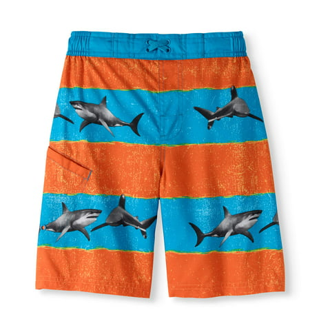 9e0090eadce8e Wonder Nation - Boys' Fashion Swim Shorts - Walmart.com