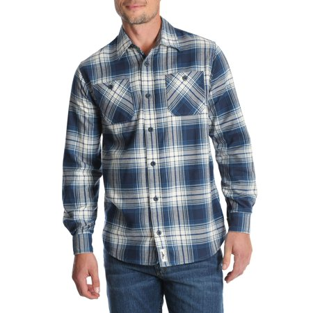 Men's and Big & Tall Long Sleeve Wicking Flannel Shirt, up to Size - Long Flannel Skirt