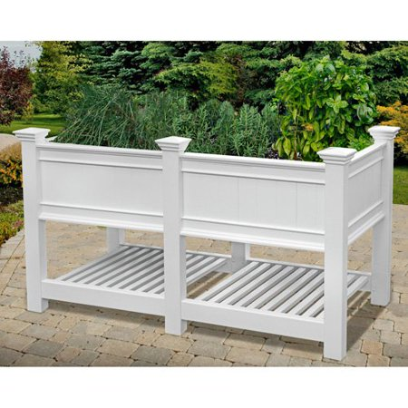 New England Arbors Cambridge Raised Planter and Extension Kit