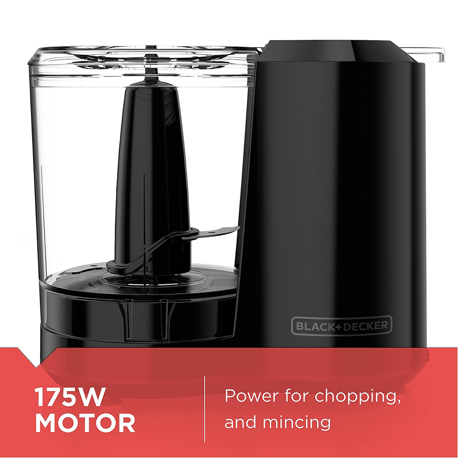 One-Touch 3 Cup Capacity Black Chopper