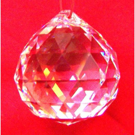 Clear Hanging Crystal Balls-20mm ()