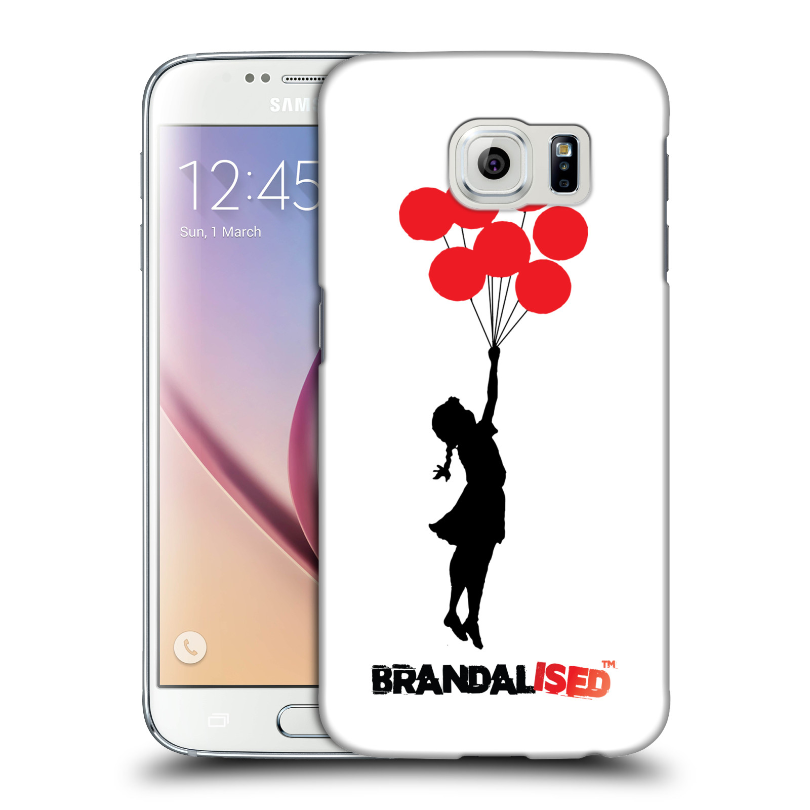 OFFICIAL BRANDALISED BANKSY RED BLACK ART HARD BACK CASE FOR SAMSUNG PHONES 1