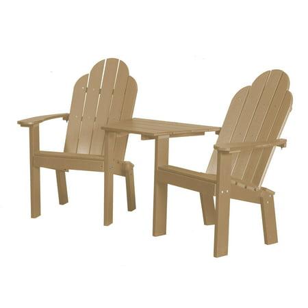 Little Cottage Classic Tete a Tete Deck Adirondack Chair ()