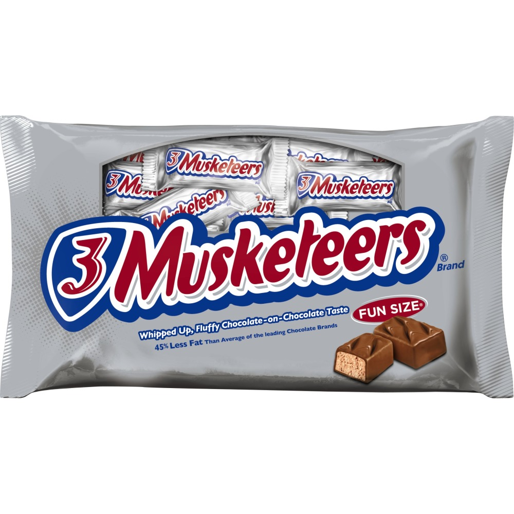 3 Musketeers, Fun Size Chocolate Candy Bars, 11 Oz
