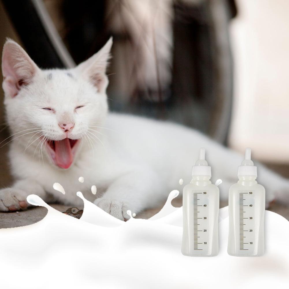 Ylshrf Feeding Bottle Set With Brush Estink Pet 1 6oz Nursing Bottle Kits 50ml Pet Feeding Bottle Set With 3 Nipples And 1 Cleaning Brush Pet Nurser Bottle Kit For Cat Dog Kittens Puppies