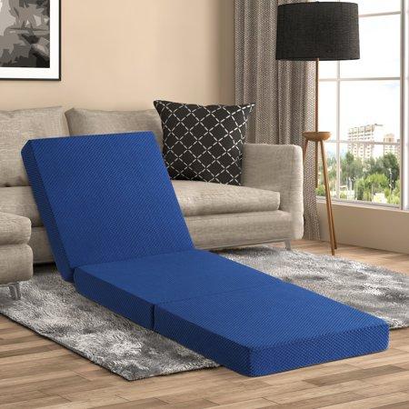 Sleeplace Multi-use Tri-Folding Mattress, Blue S