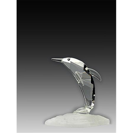 Asfour Crystal 954-2 1.85 L x 2.2 H in. Crystal Dolphin Sea (Crystal Dolphins Figurine)