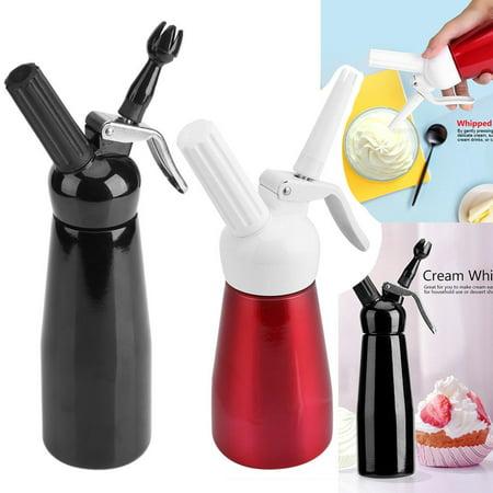 EECOO 250/500ML Whipped Dessert Cream Butter Dispenser Whipper Foam Maker Red/Black