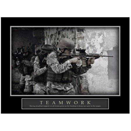Teamwork Military Unit Special Forces Mission Team Support Motivational Poster