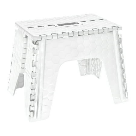 "Simplify 12"" Folding Step Stool in White"
