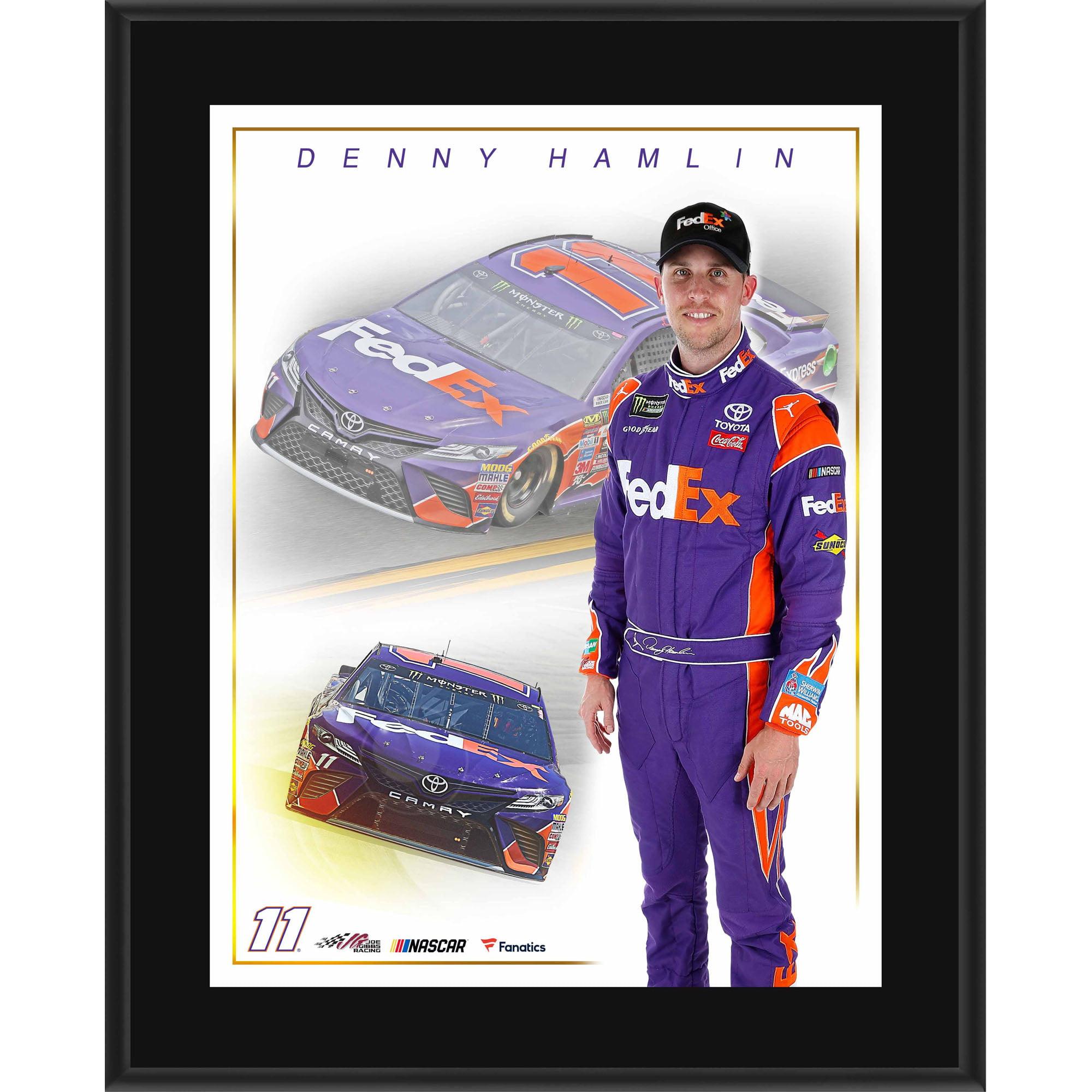 "Denny Hamlin Fanatics Authentic 10.5"" x 13"" FedEx Sublimated Plaque - No Size"