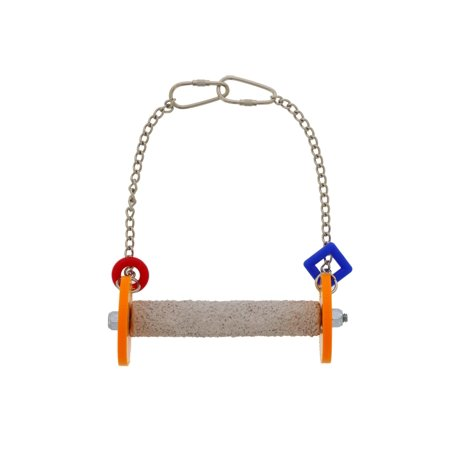 Sweet Feet and Beak Roll Swing and Perch for Birds, Keeps Nails & Beak in Top Condition and Stimulate Leg Muscles - Safe & Non-Toxic, For Cages- X-Small, Orange