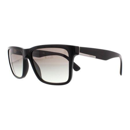 PRADA Sunglasses PR19SS 1AB0A7 Black (Prada Square Sunglasses)