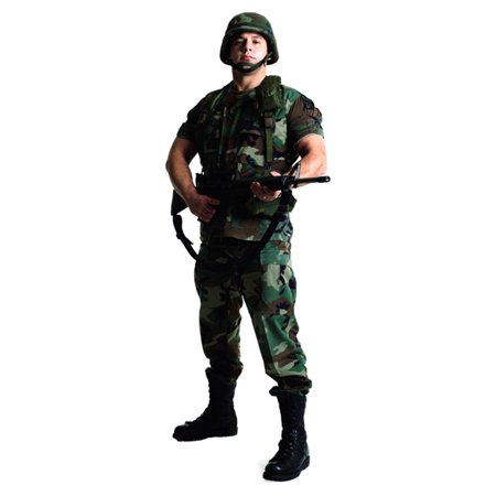 Star Cutouts US Soldier Cardboard Cutout Life Size - Life Size Cutouts