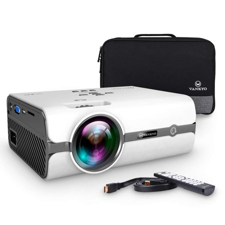 VANKYO Leisure 410 LED Projector with 2800 Lux, Carrying Bag and HDMI Cable, Portable Projector Supports 1080P, HDMI, USB, VGA, AV, SD Card, Compatible with Fire TV Stick, PS3/PS4,