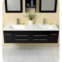 Fresca Stella Bellezza 59'' Double Bathroom Vanity Set with Mirrors