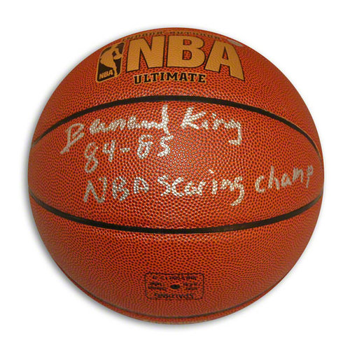 NBA - Bernard King Autographed Indoor/Outdoor Basketball Inscribed 8485 NBA Scoring Champ