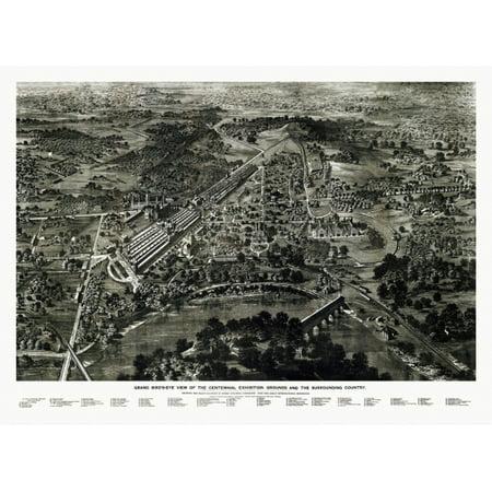 Antique Map of Philadelphia Pennsylvania 1876 Delaware County Canvas Art -  (24 x 36) ()
